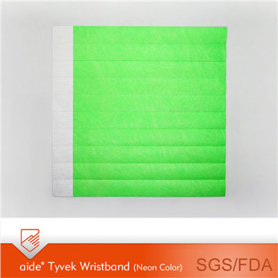 Tyvek Wristbands Neon Colors