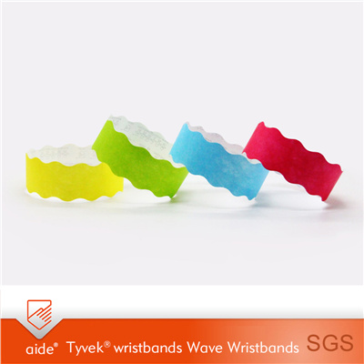 Wave Tyvek Wristbands