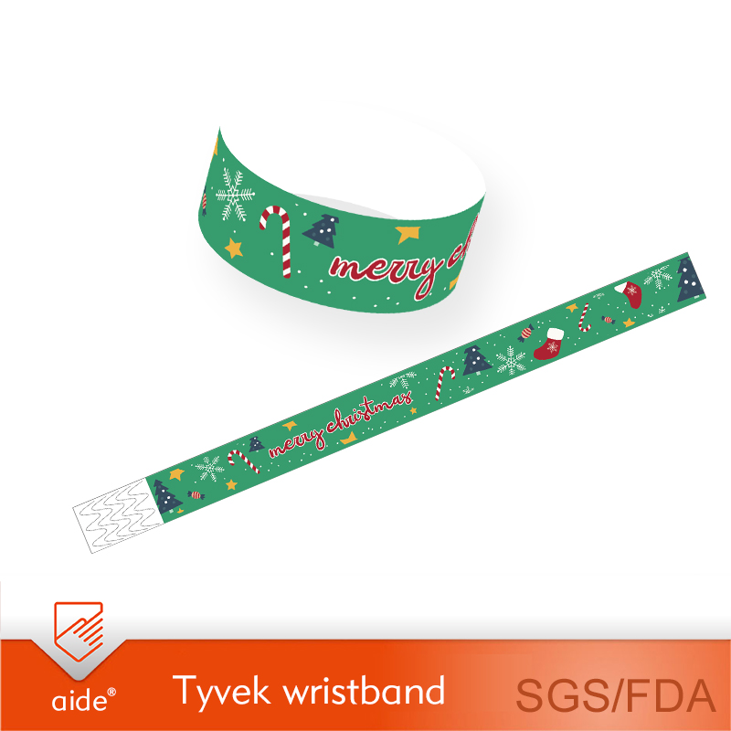 Tyvek Wristbands-Christmas