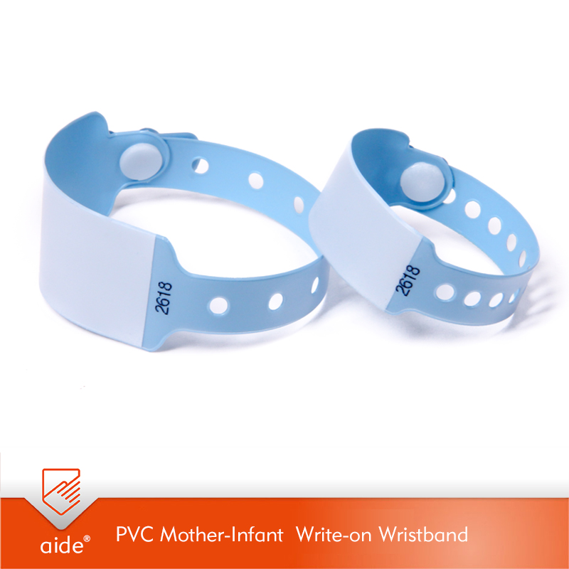 PVC Mother-Infant Write-on Wristband