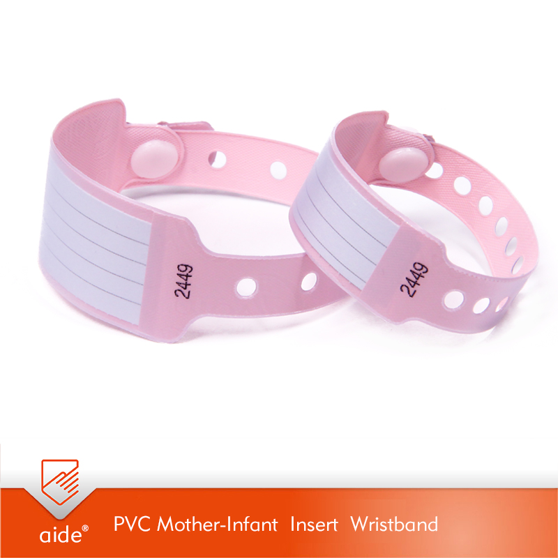 PVC Mother-Infant Insert Wristband