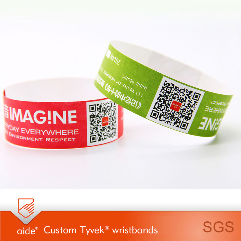 Customized Tyvek Wristbands